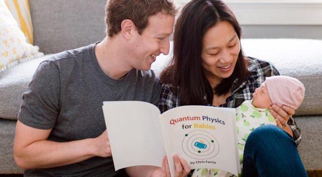 mark zuckerberg dengan bayinya