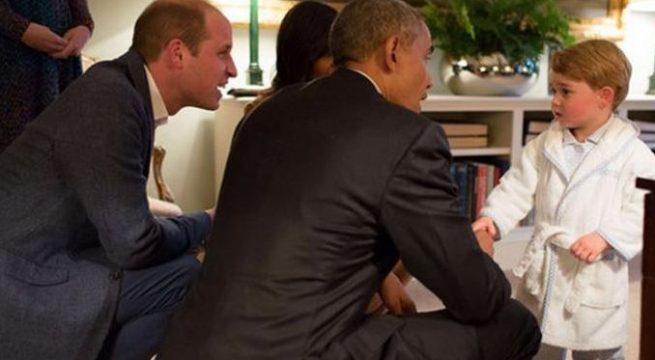 Hanya Pangeran George yang Bisa Bertemu Obama dengan Berbalut Piyama