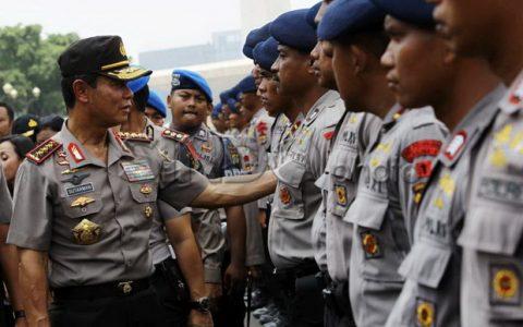 demo november kerahkan personel brimob