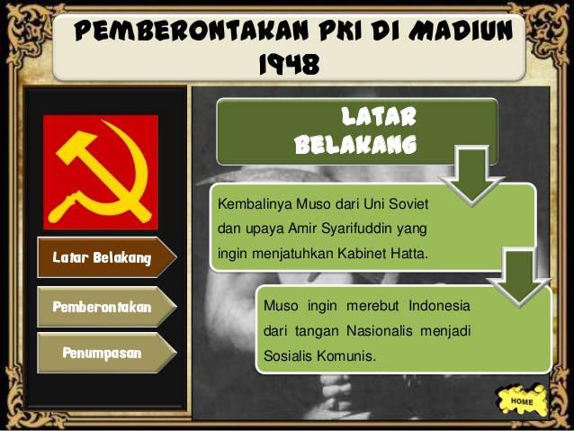 Latar Belakang Pemberontakan PKI Madiun - BukaFakta.com