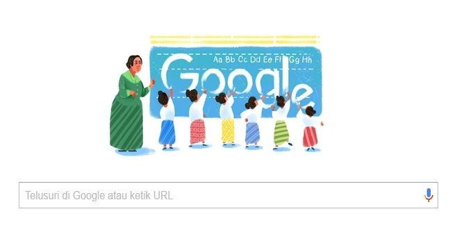 google doodel dewi sartika